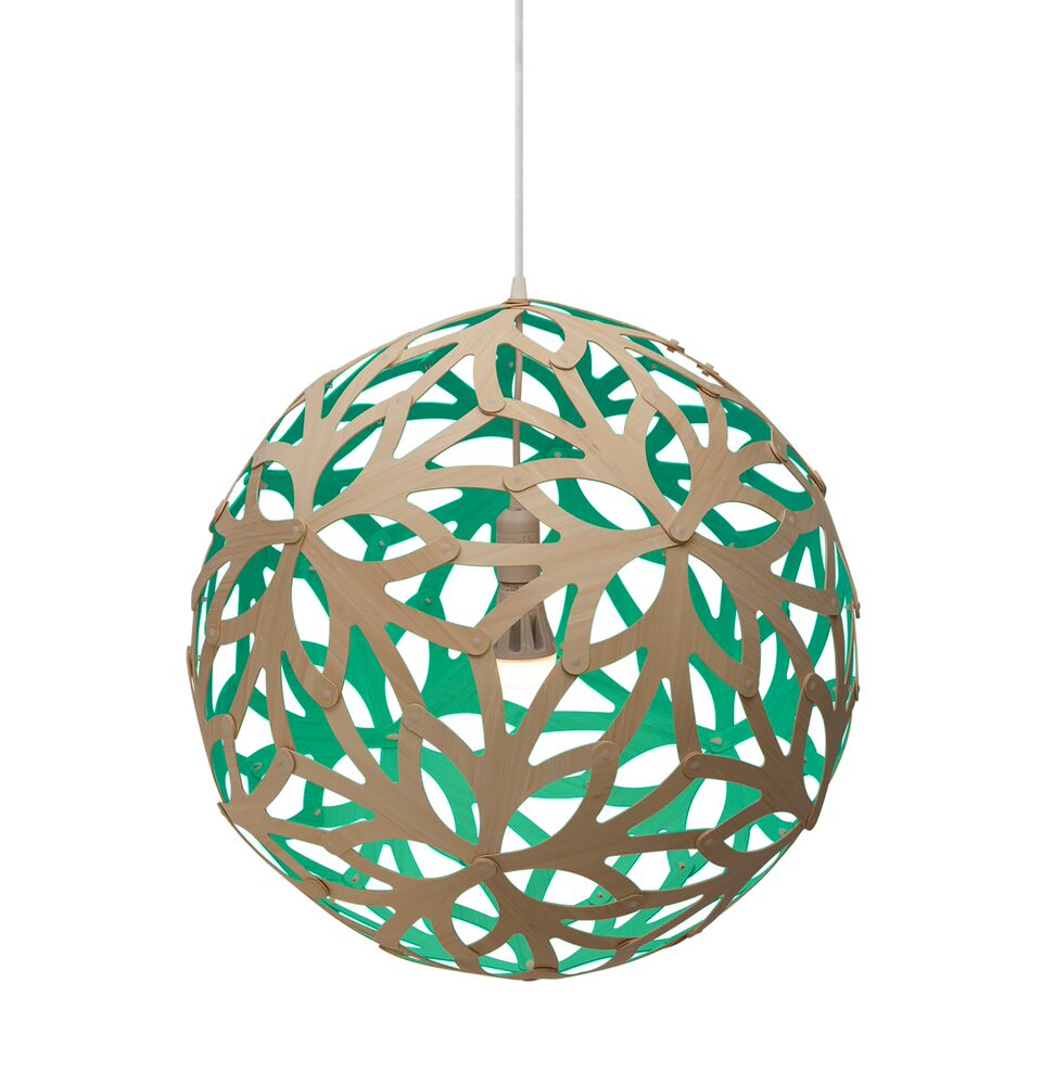 Floral Pendant Light Aqua, 60cm