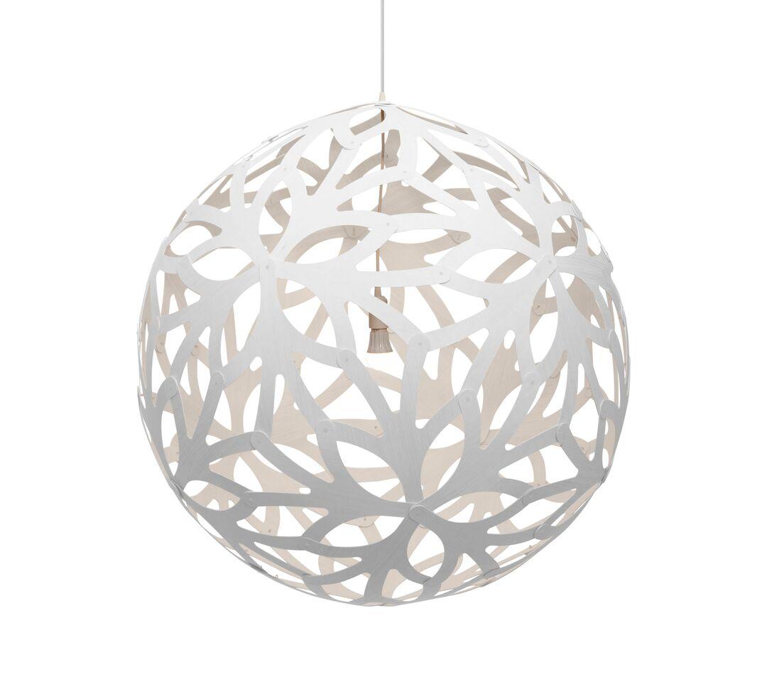 Floral Pendant Light White 2 Sides, 80cm
