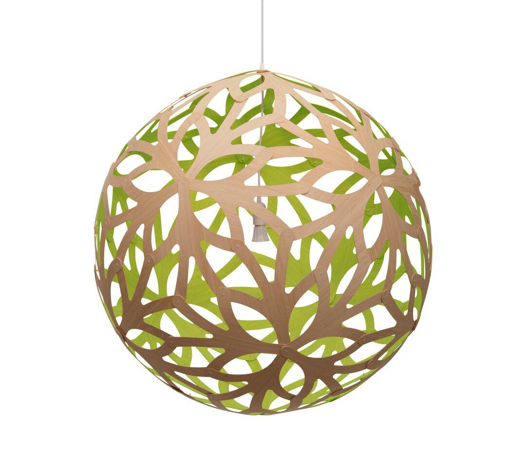 Floral Pendant Light Lime, 80cm