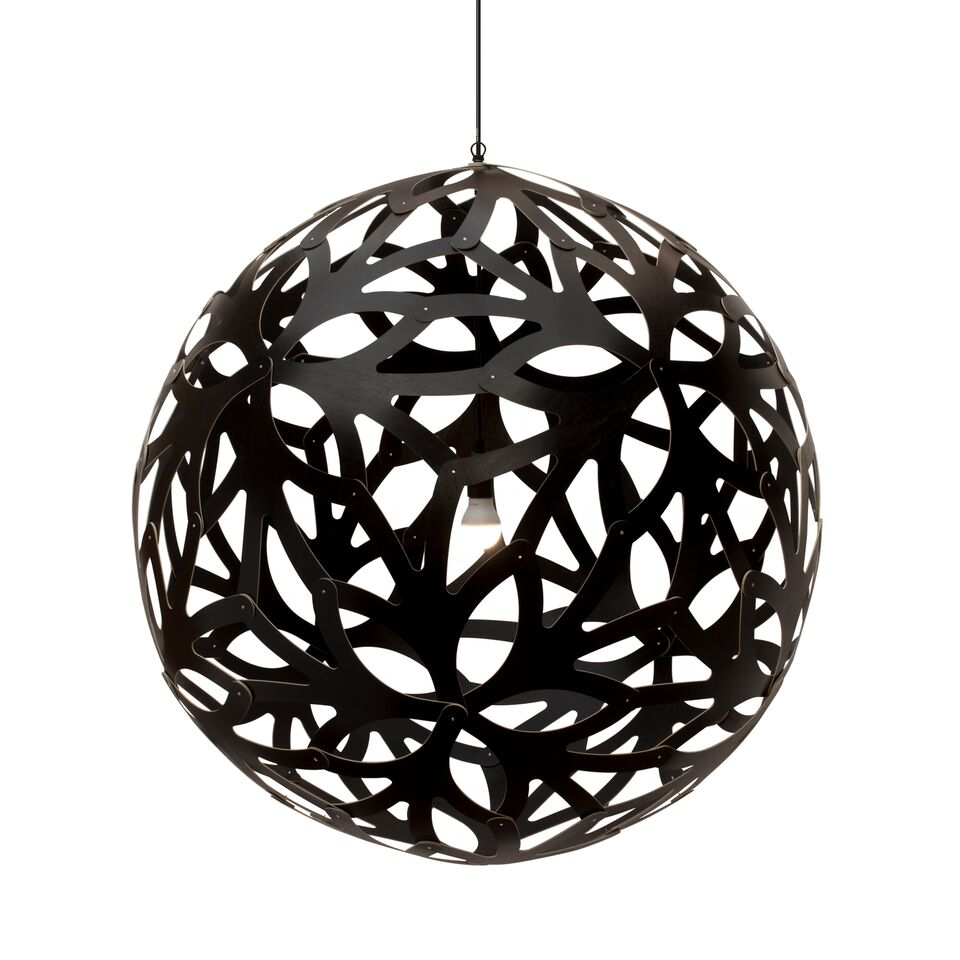 Floral Pendant Light Black 2 Sides, 160cm