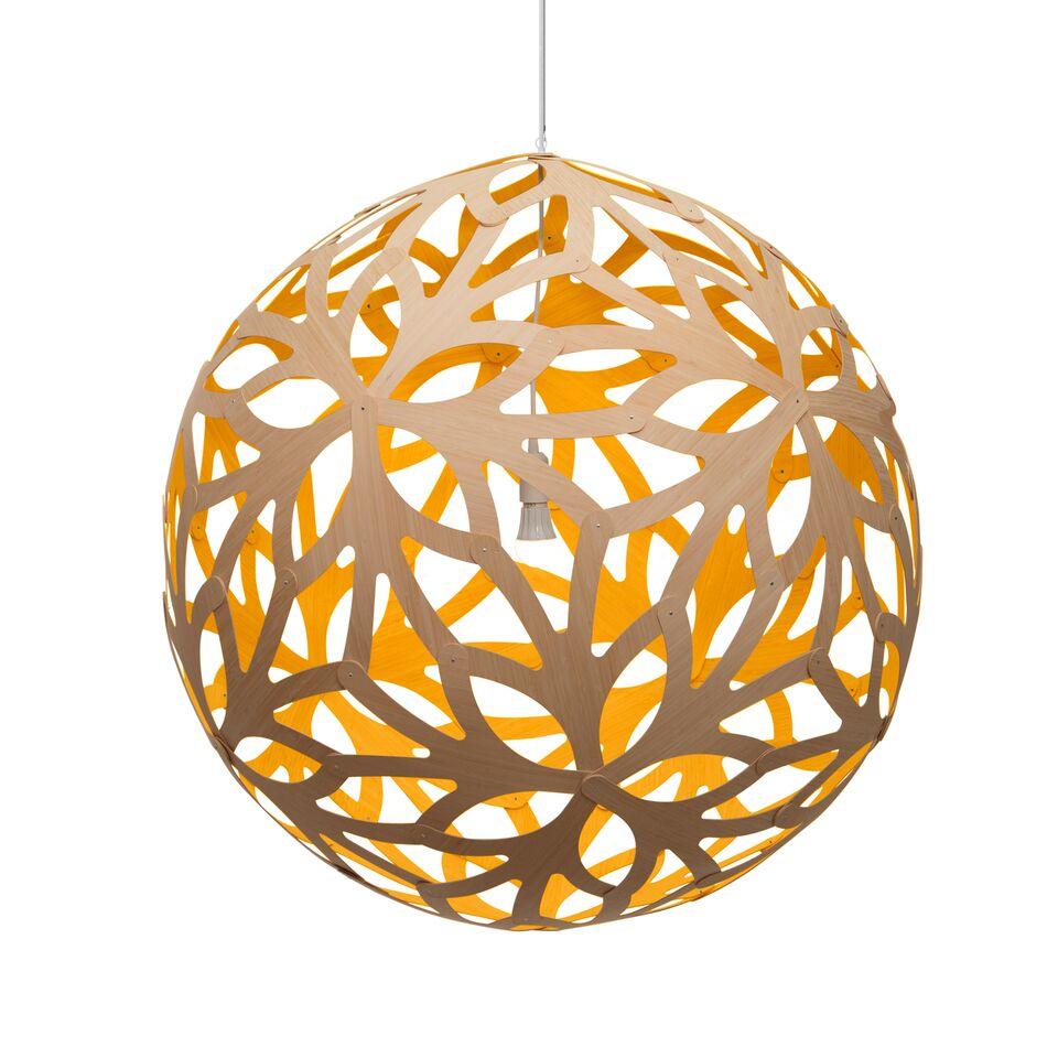 Floral Pendant Light Yellow, 160cm