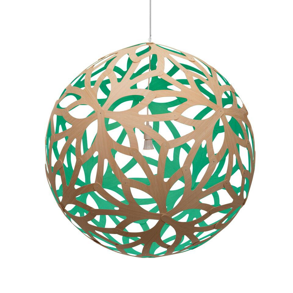 Floral Pendant Light Aqua, 160cm