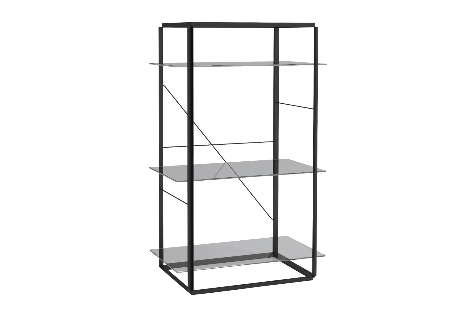 Florence Shelves Iron Black, Medium