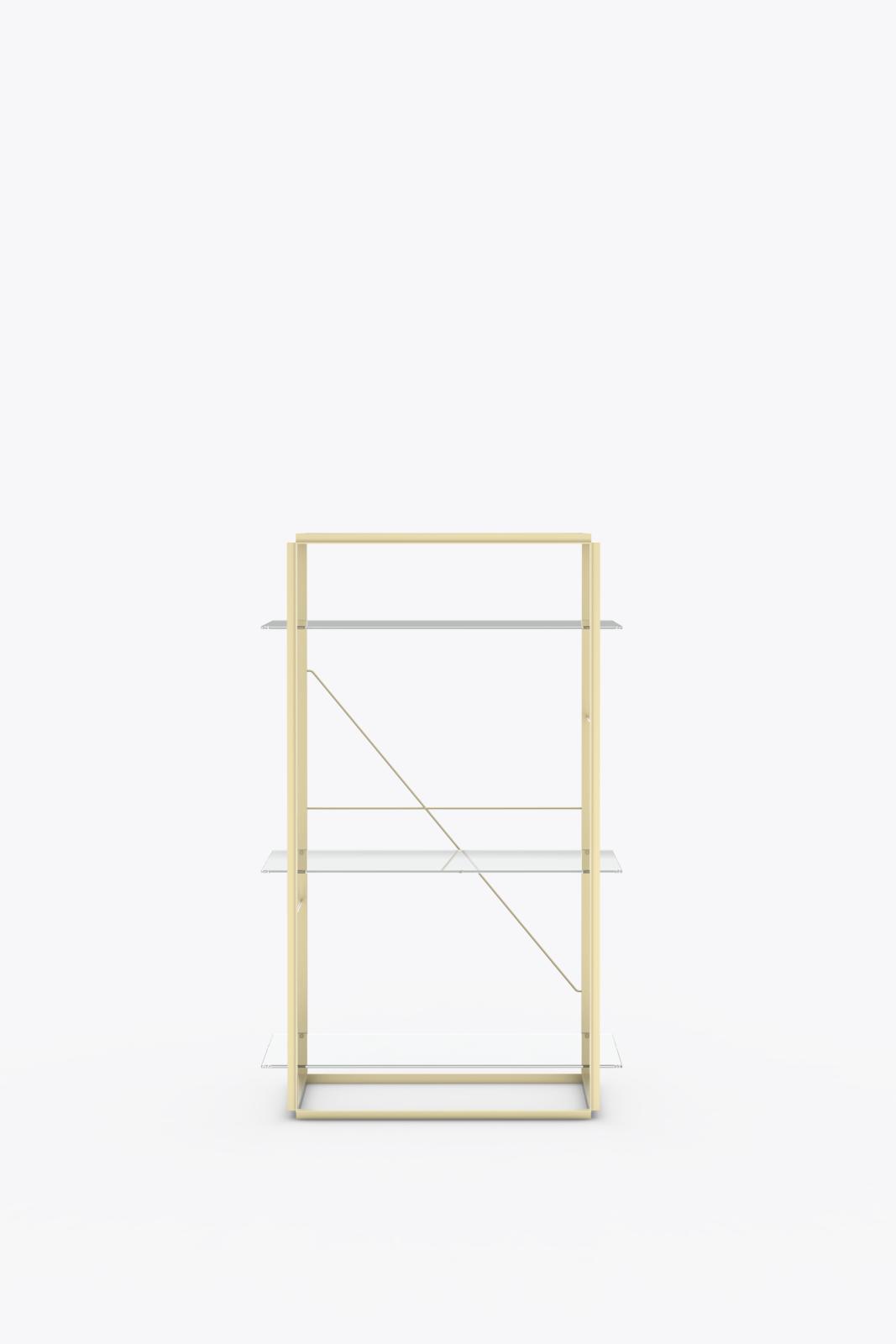 Florence Shelves Raw Gold, Medium