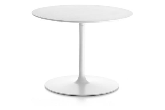 Flow Low Table Cristalplant White Top & Matt White Frame, 44cm