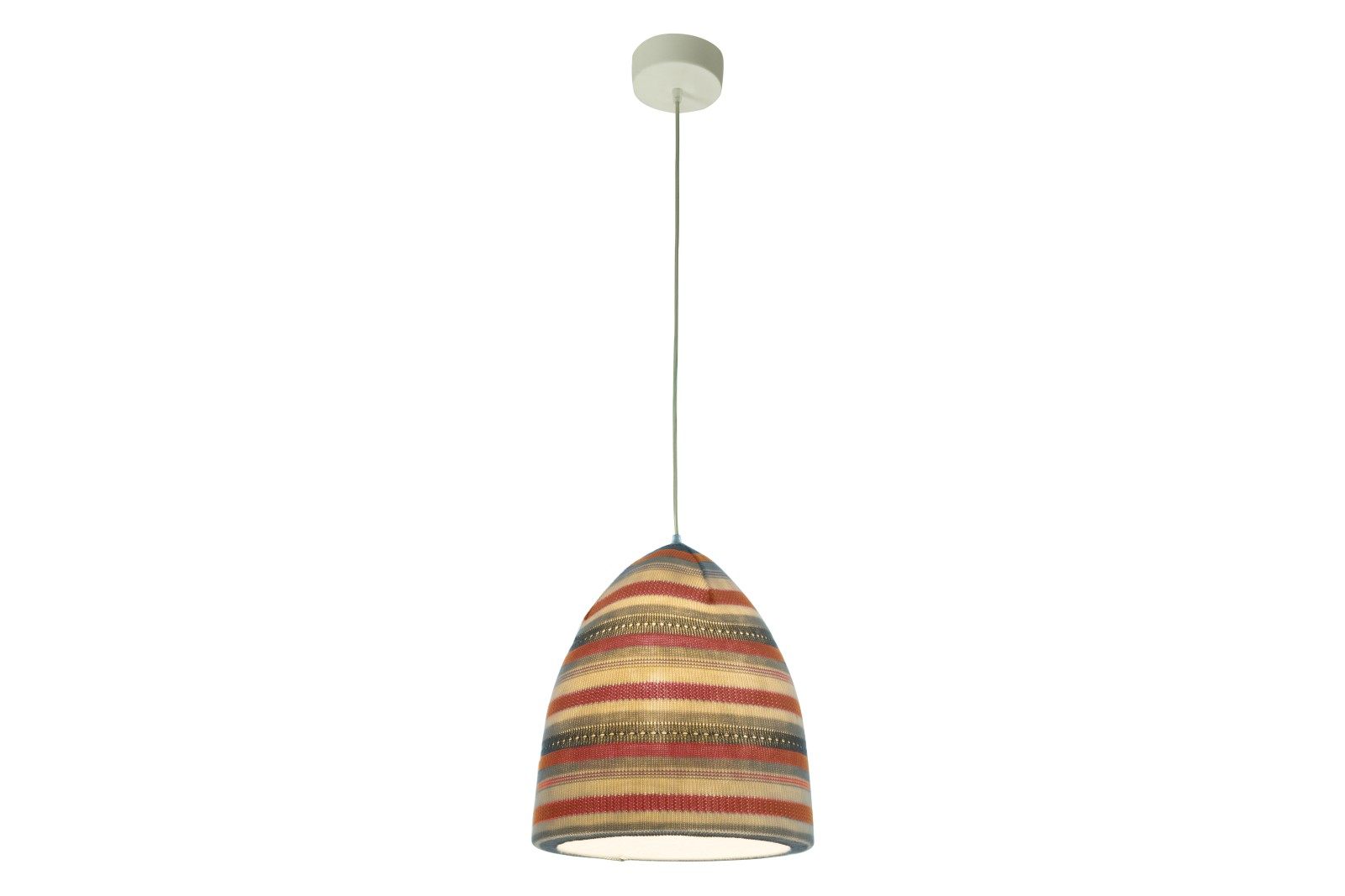 Flower Stripe Pendant Light Red