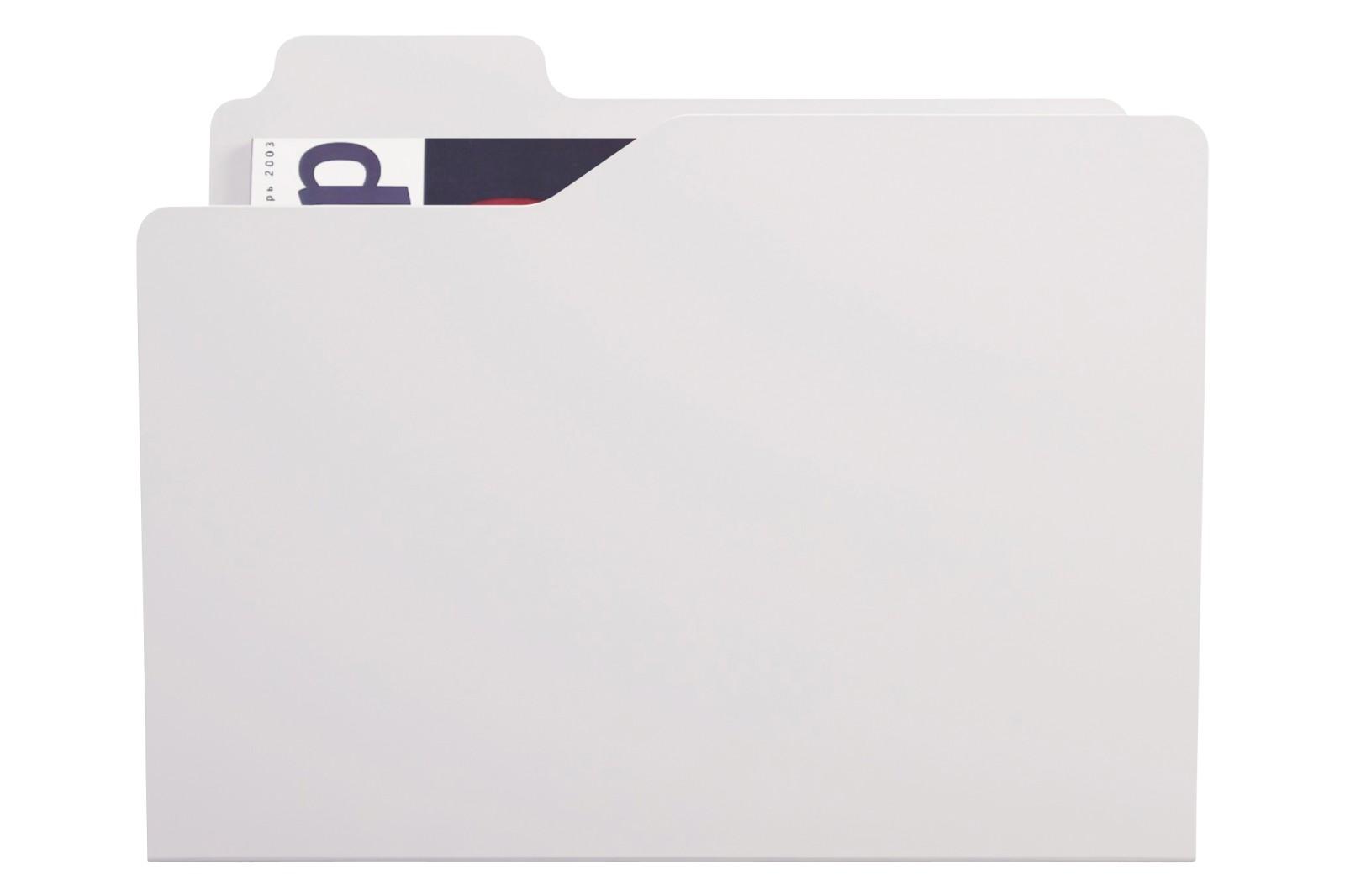 Folder Magazine Rack White