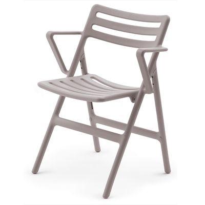Folding Air Chair With Arms - Set of 2 Matt Beige