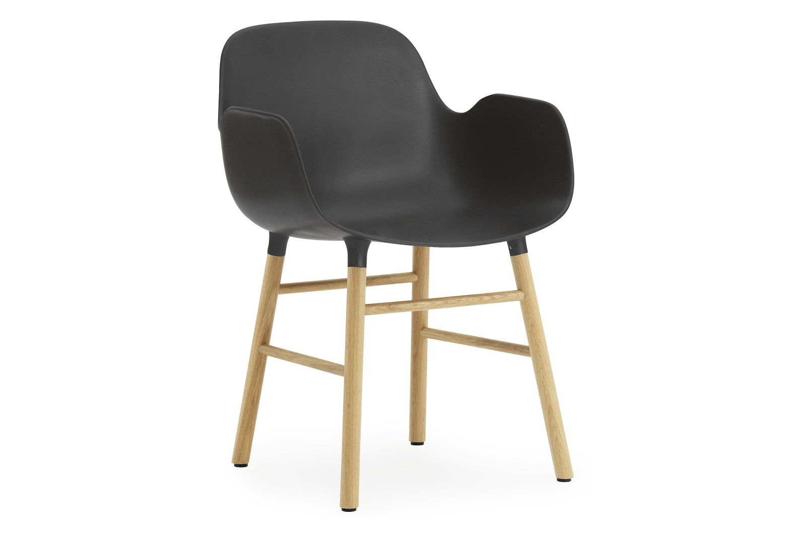 Form Armchair Black, NC Oak