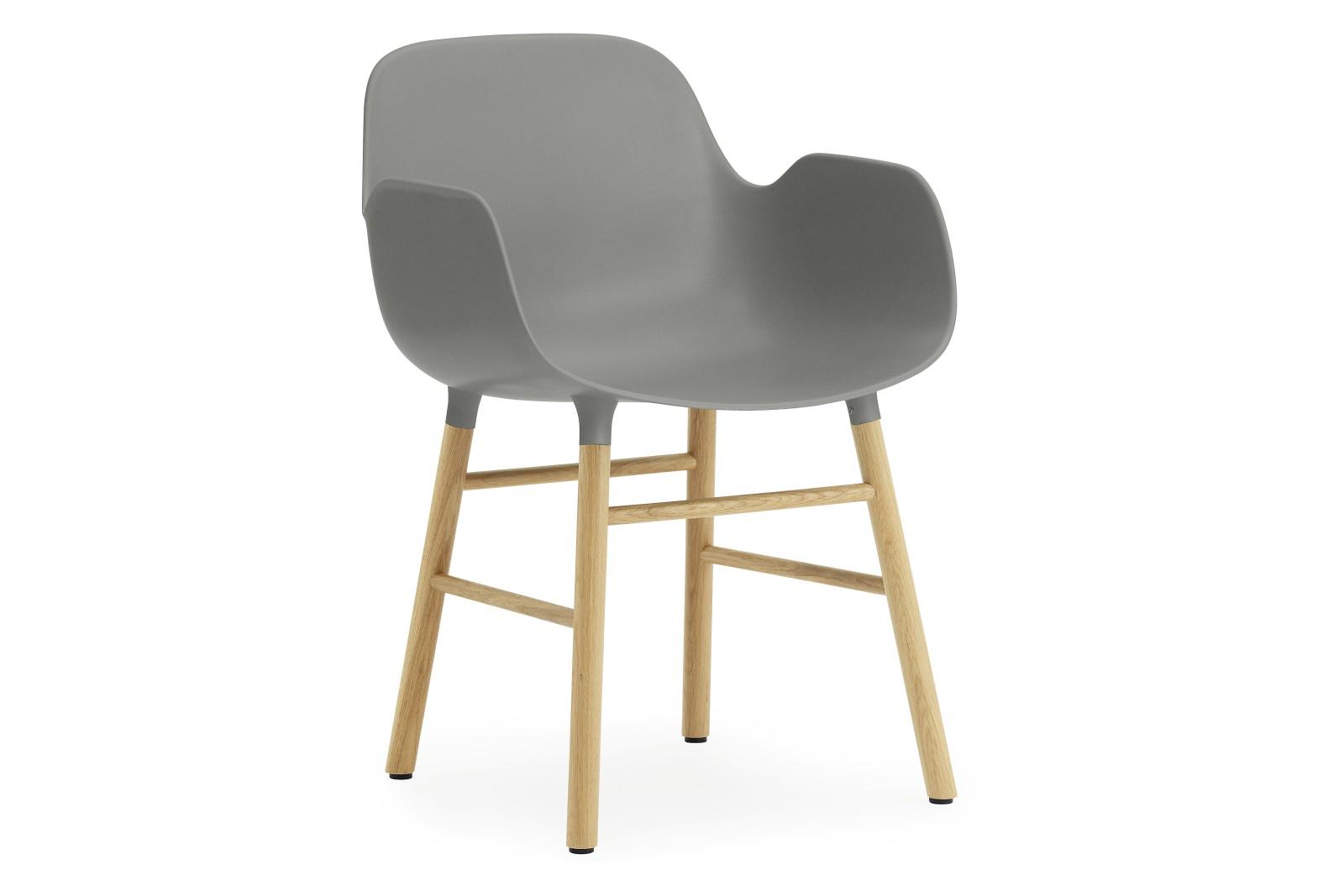Form Armchair Grey, NC Oak