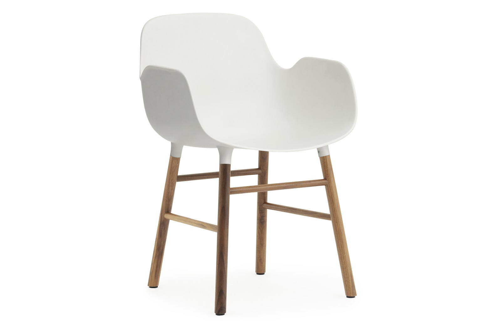 Form Armchair White, NC Walnut