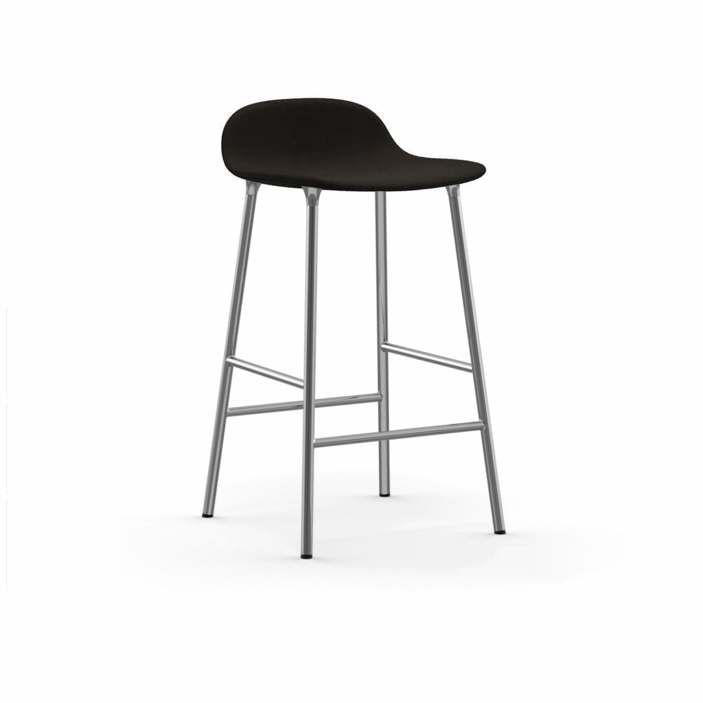 Form Barstool - Fully Upholstered Fame 61134, NC Chrome, 65cm