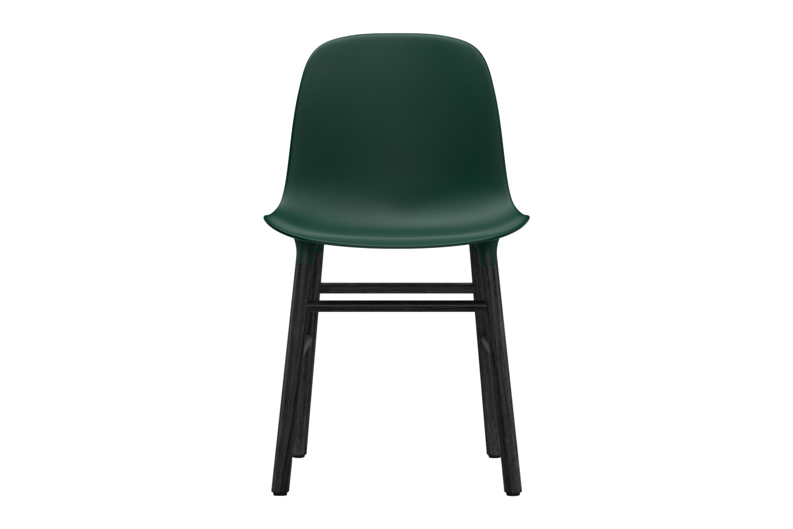 Form Dining Chair NC Black Lacquered Wood, Green