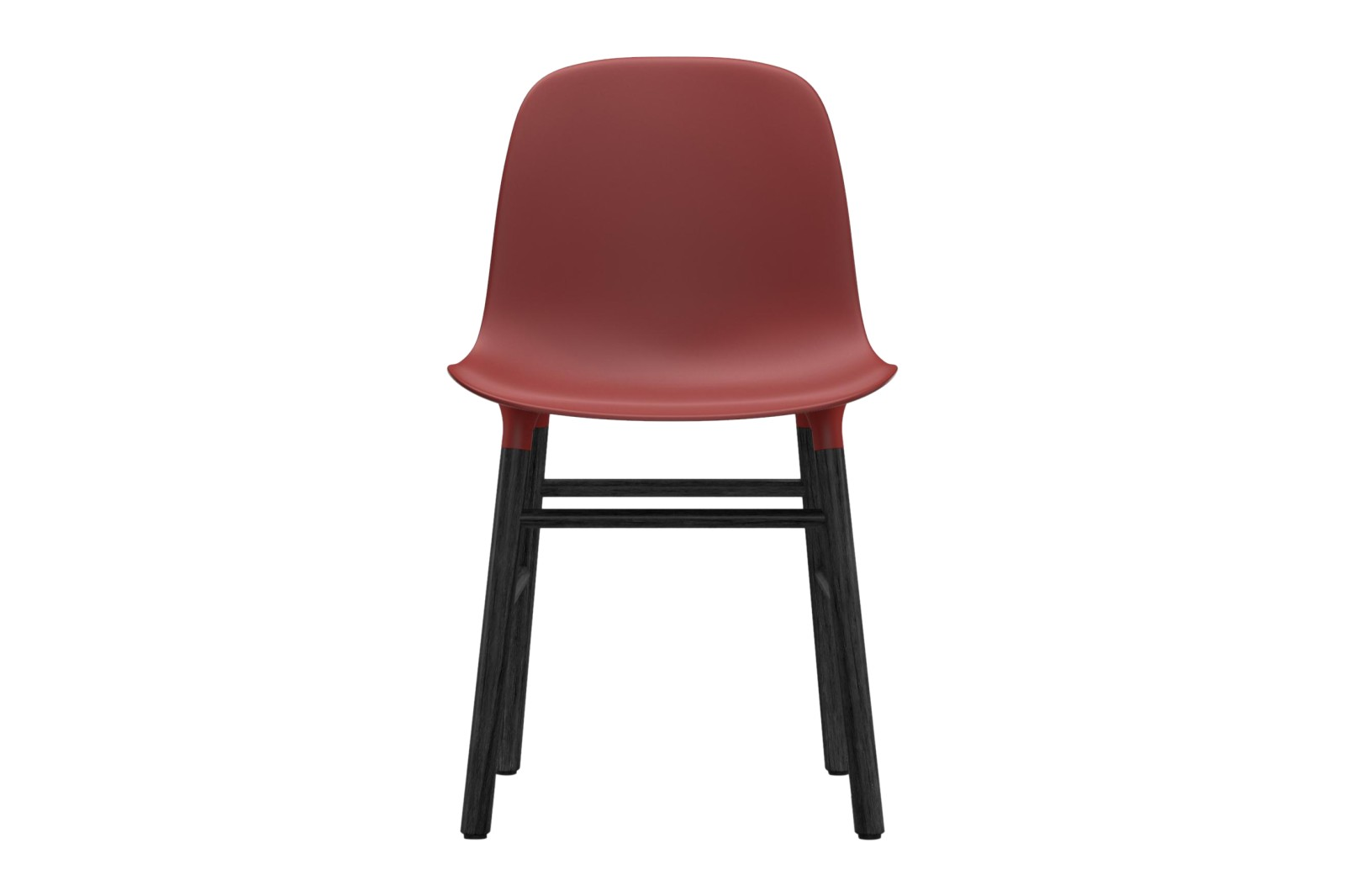 Form Dining Chair NC Black Lacquered Wood, Red