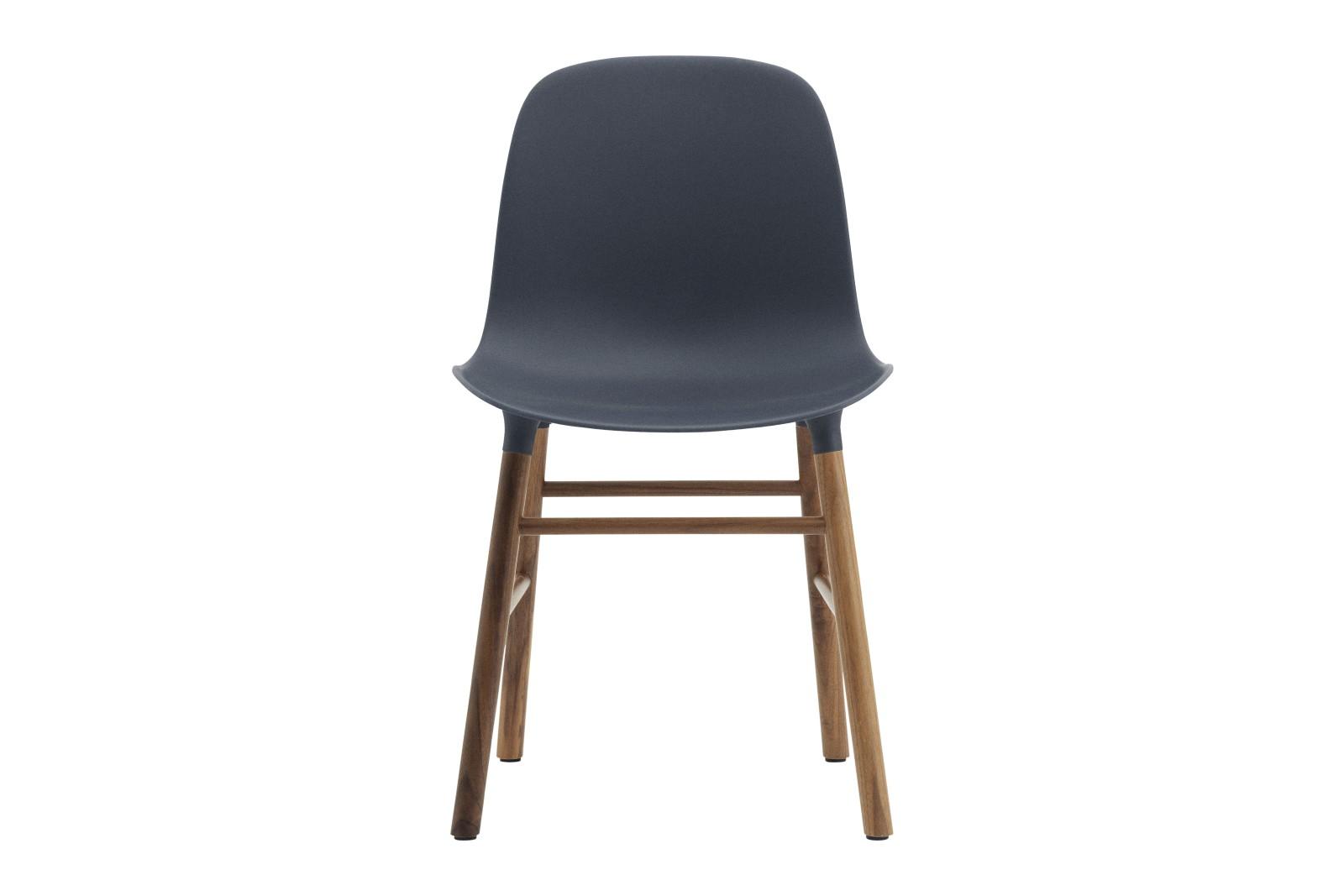 Form Dining Chair NC Walnut, Blue