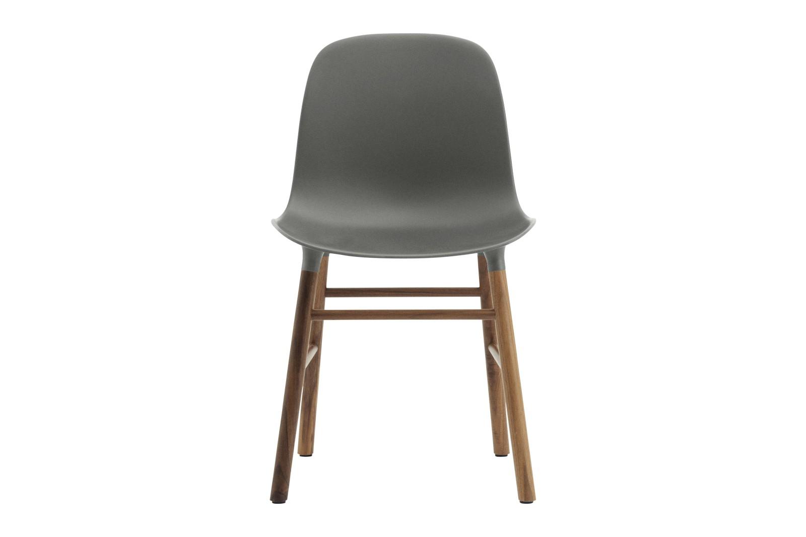 Form Dining Chair NC Walnut, Grey