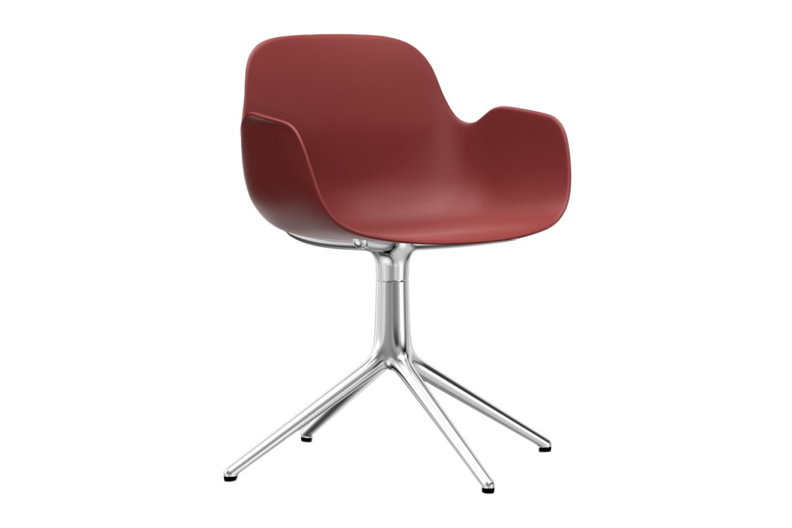 Form Swivel Armchair 4L Red, NC Aluminium