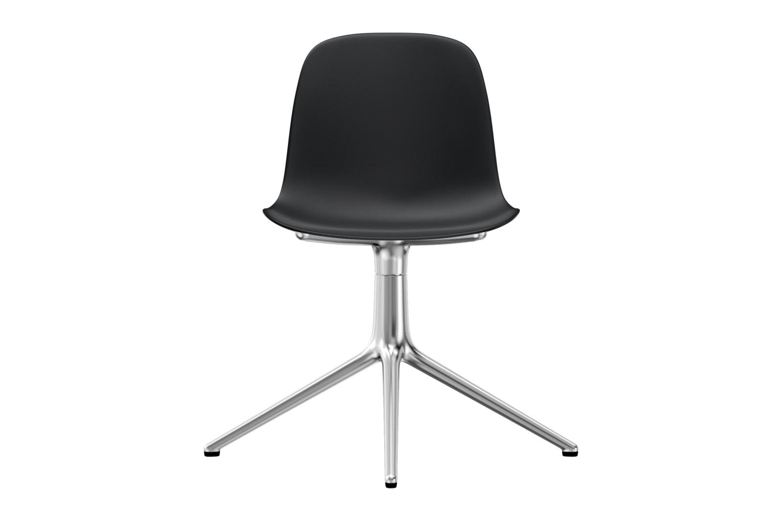 Form Swivel Chair 4L NC Aluminium, Black