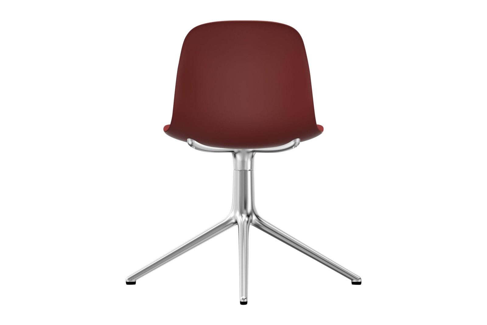 Form Swivel Chair 4L NC Aluminium, Red