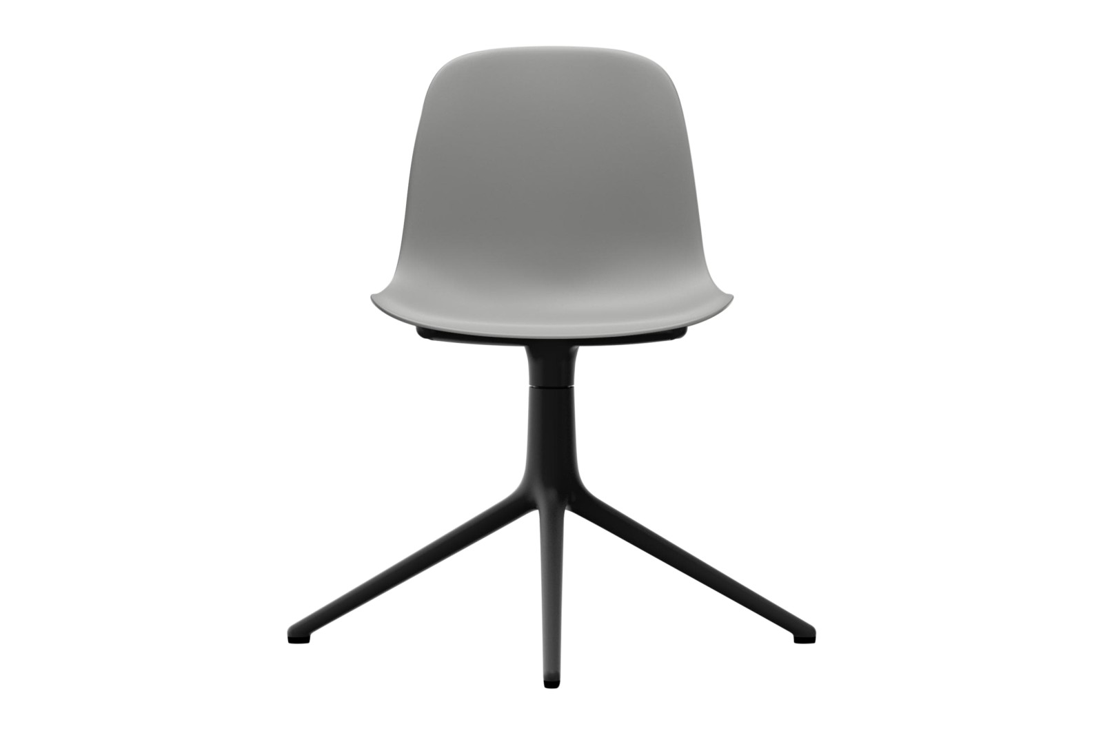 Form Swivel Chair 4L NC Black Aluminium, Grey