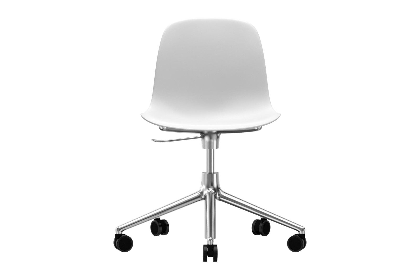 Form Swivel Chair 5W Gaslift NC Aluminium, White