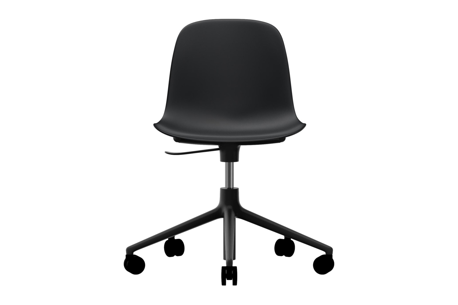 Form Swivel Chair 5W Gaslift NC Black Aluminium, Black