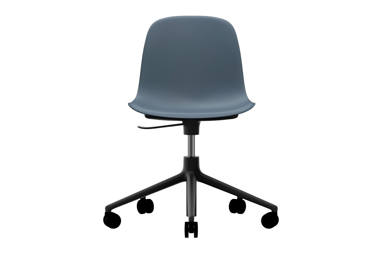 Form Swivel Chair 5W Gaslift NC Black Aluminium, Blue