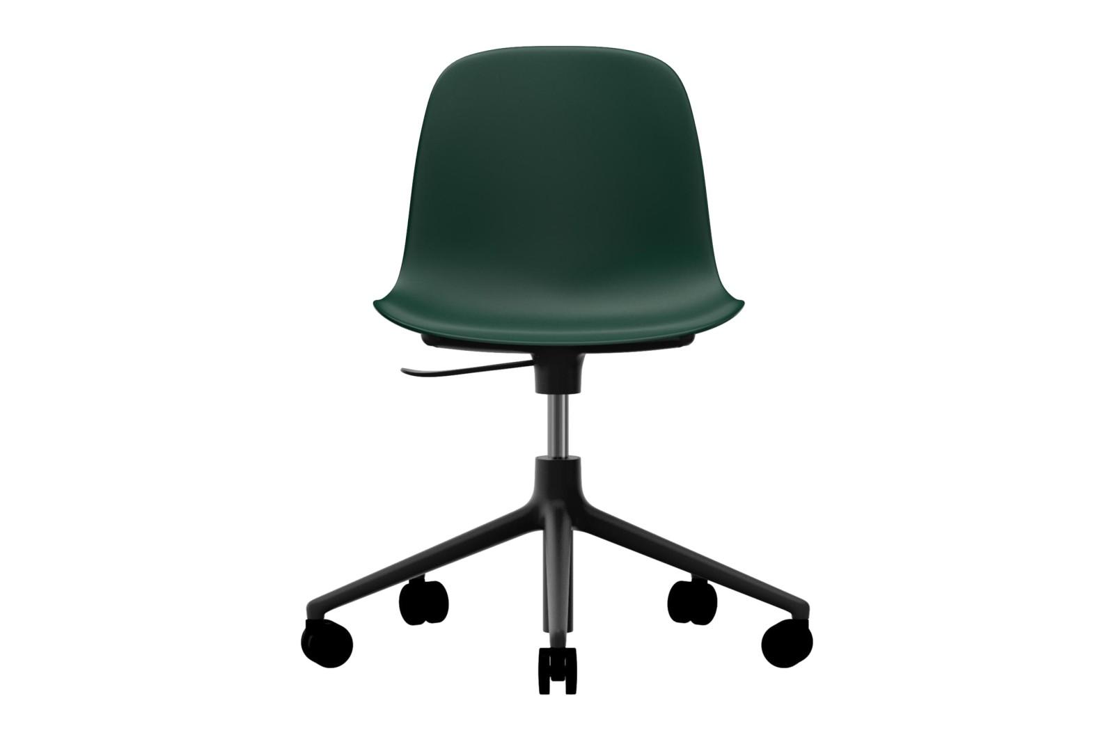 Form Swivel Chair 5W Gaslift NC Black Aluminium, Green