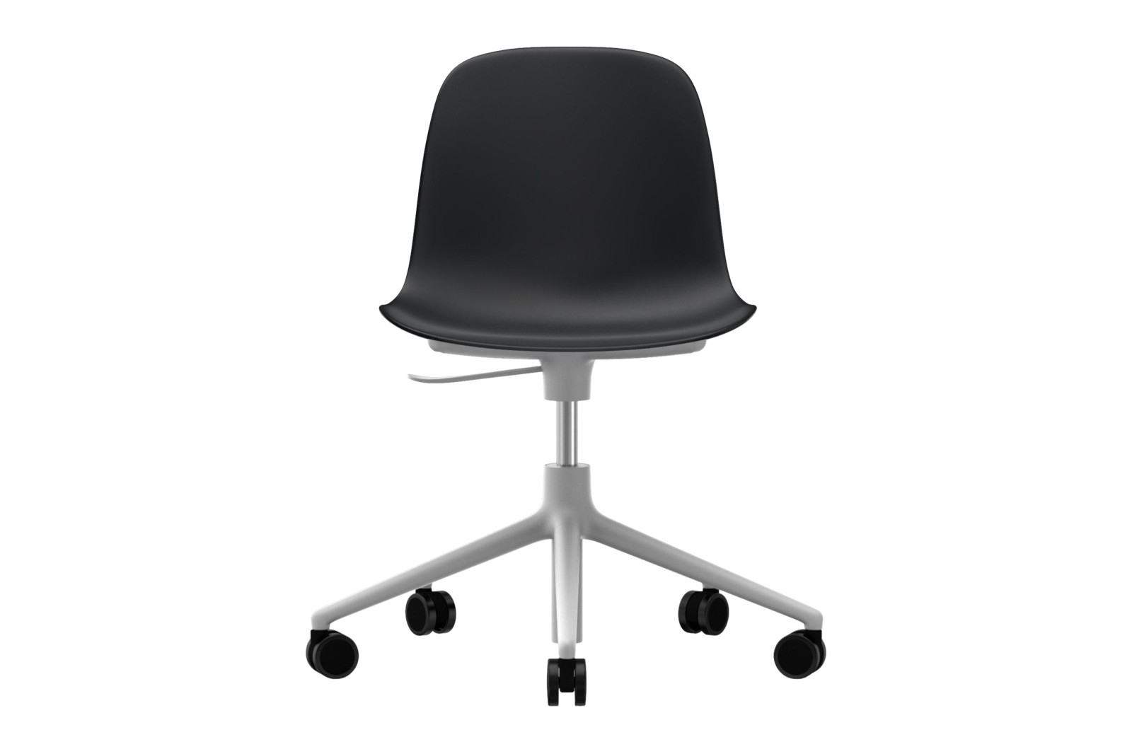 Form Swivel Chair 5W Gaslift NC White Aluminium, Black