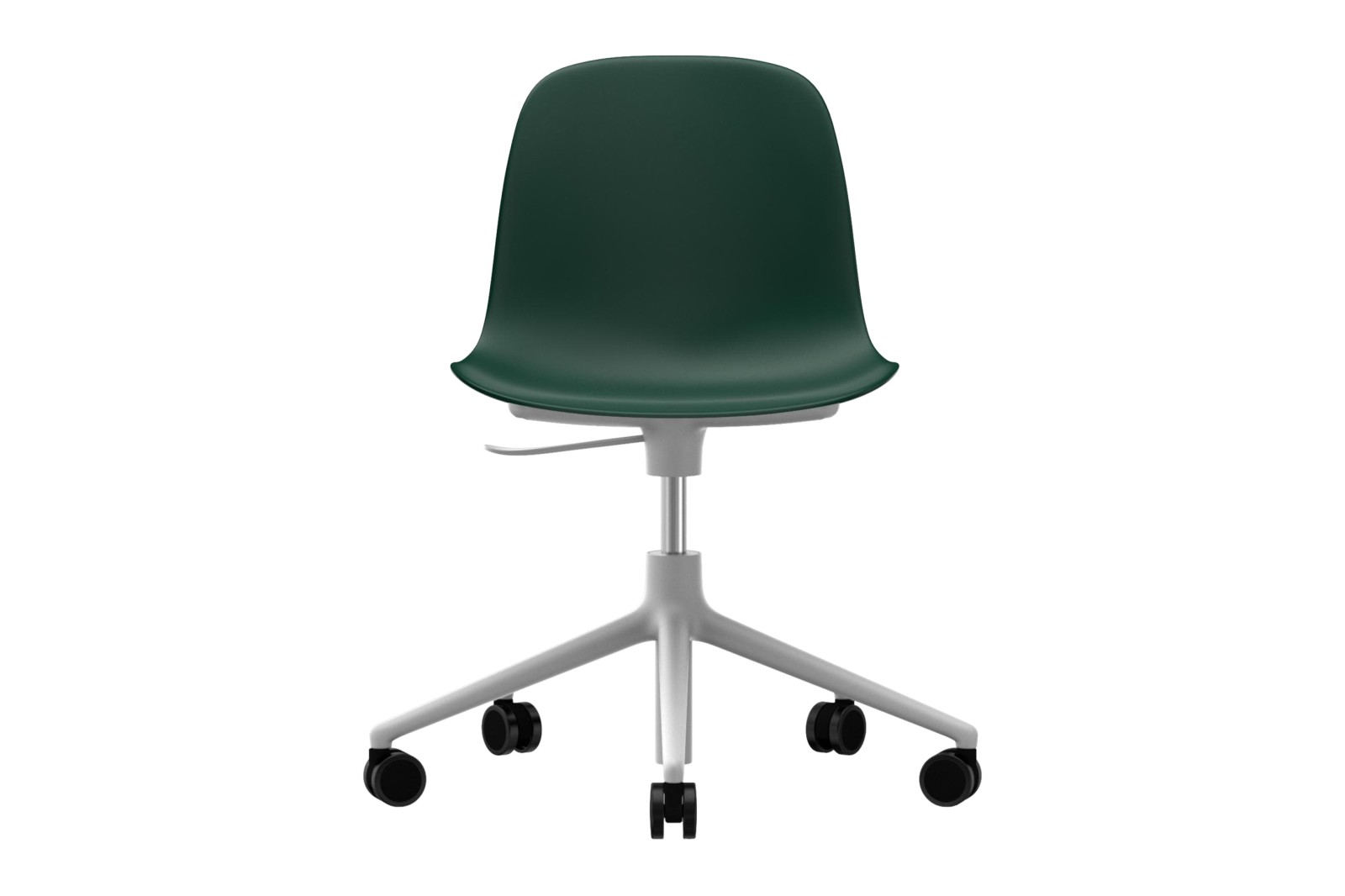 Form Swivel Chair 5W Gaslift NC White Aluminium, Green