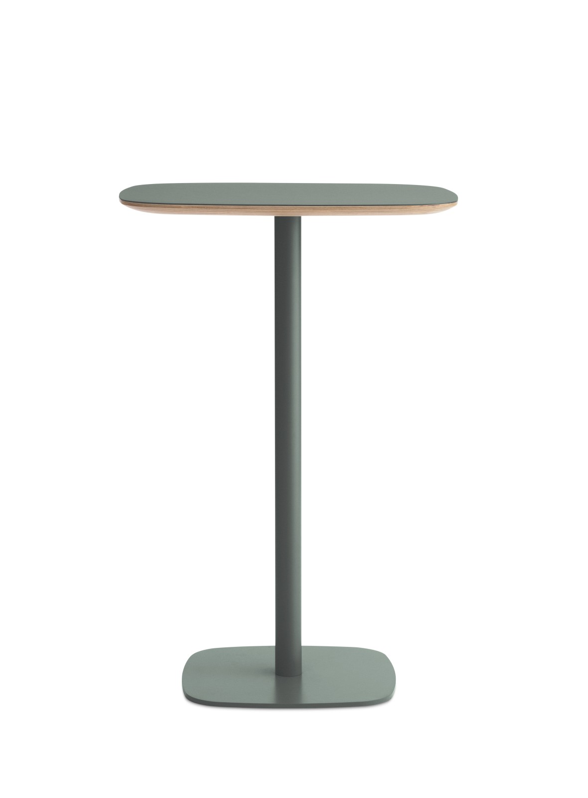Form High Cafe Table Green, Large