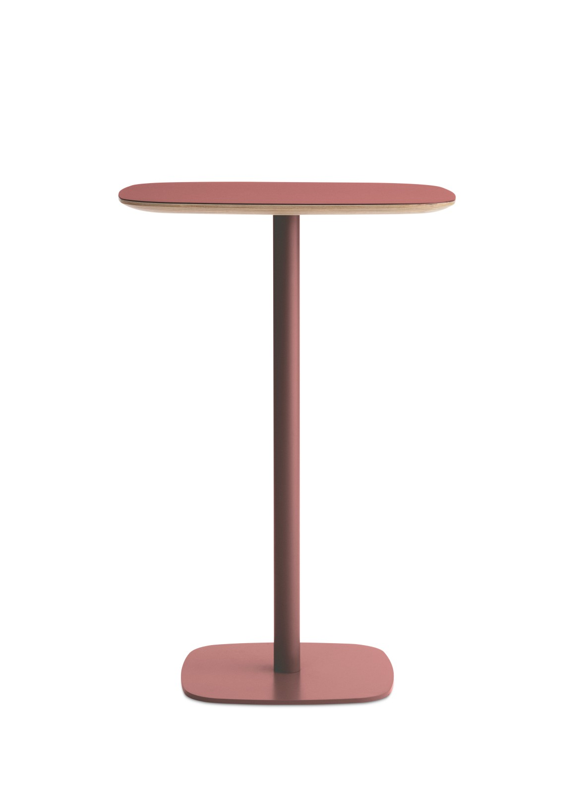Form High Cafe Table Red, Large