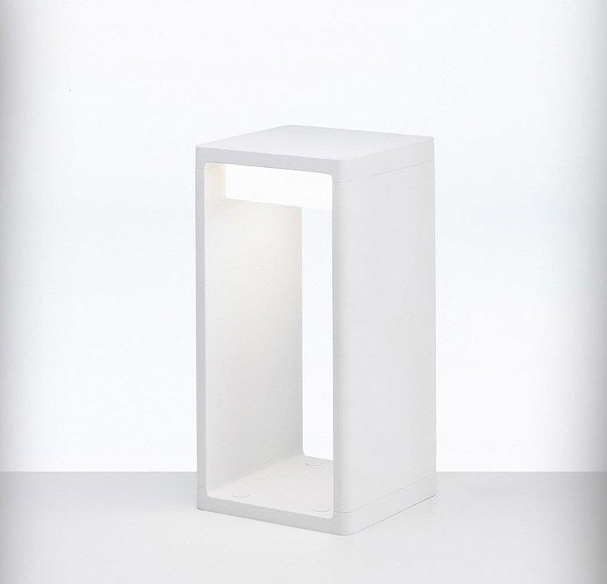 Frame Outdoor Light Small, White, Fluorescent