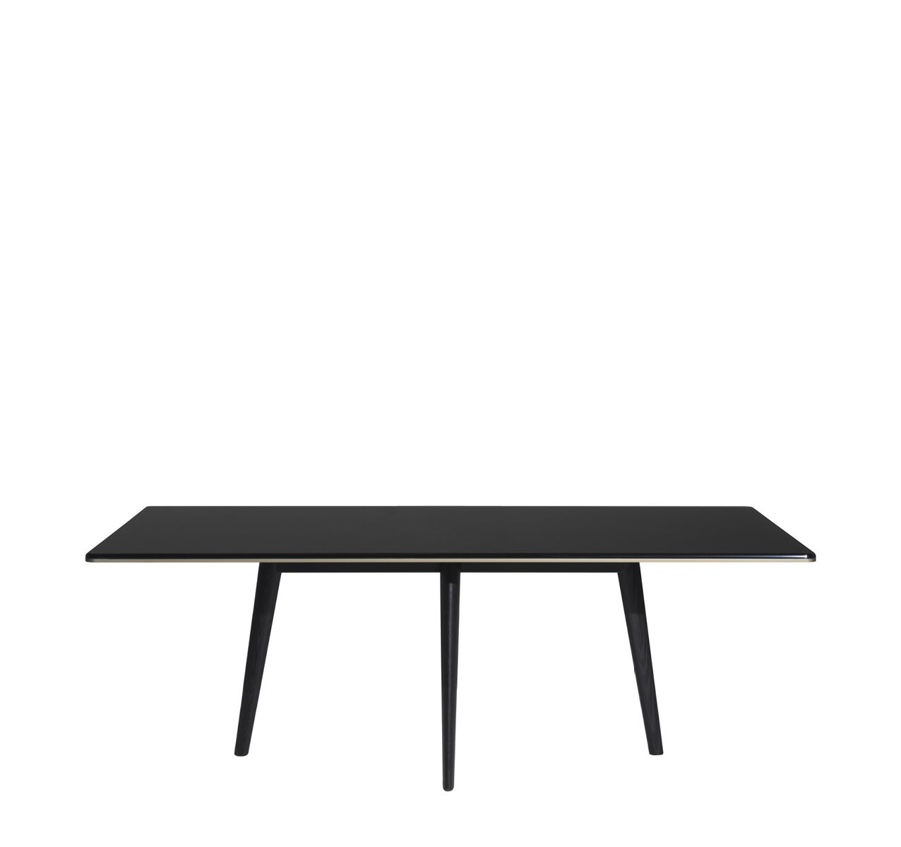 Francois Dining Table - Glass Top Glass Top/ Ebonized Ash Legs, 240