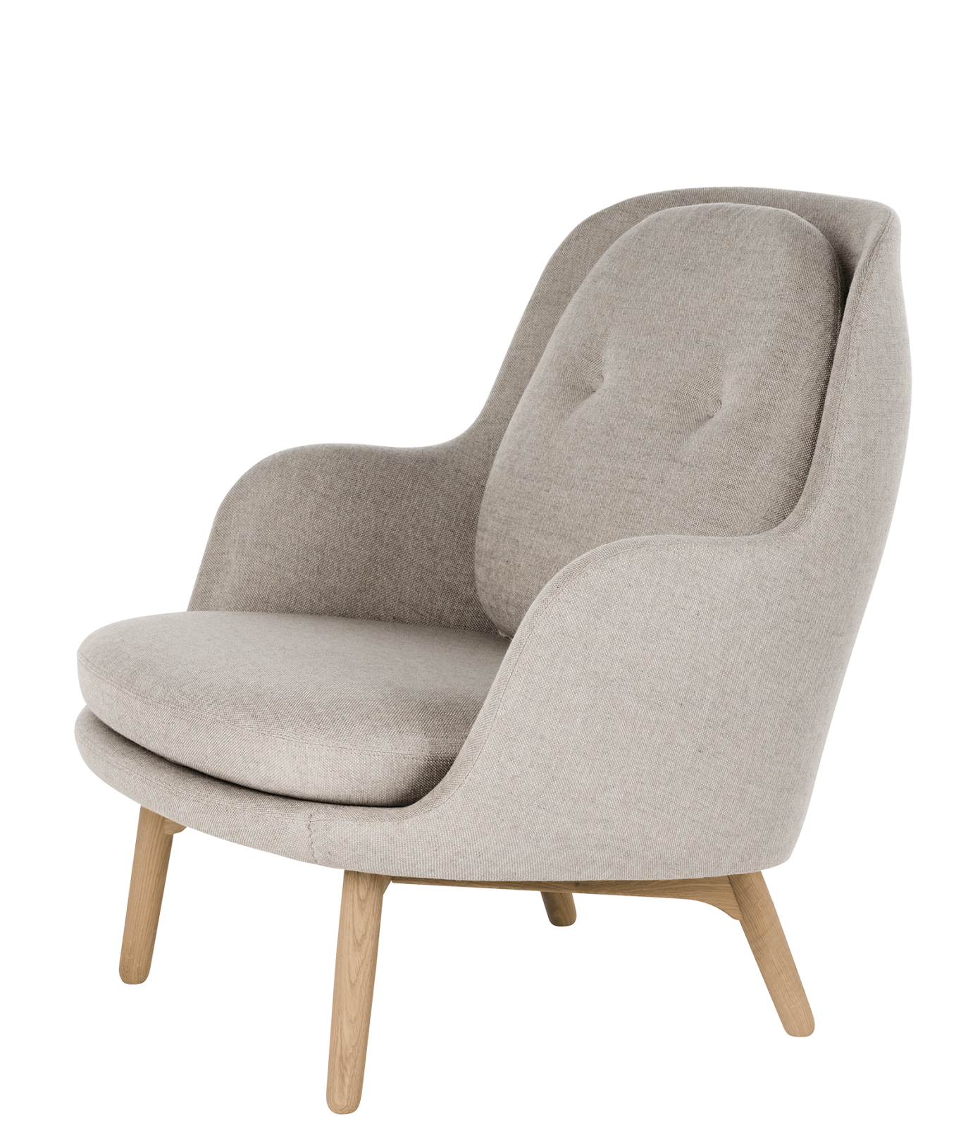 Fri Easy Chair with Wooden Base Sunniva 2 143