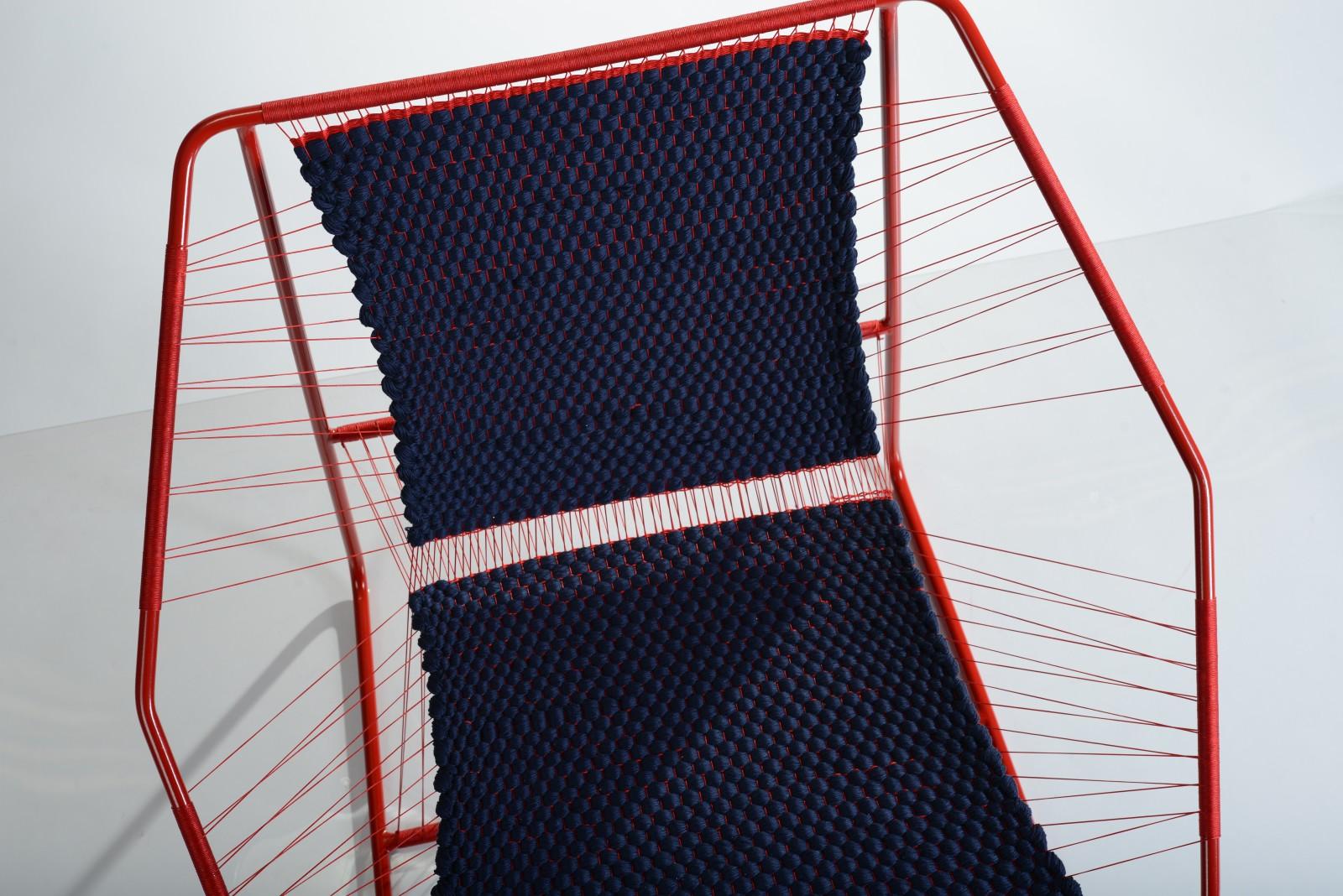 Fuchila Armchair Blue / Red