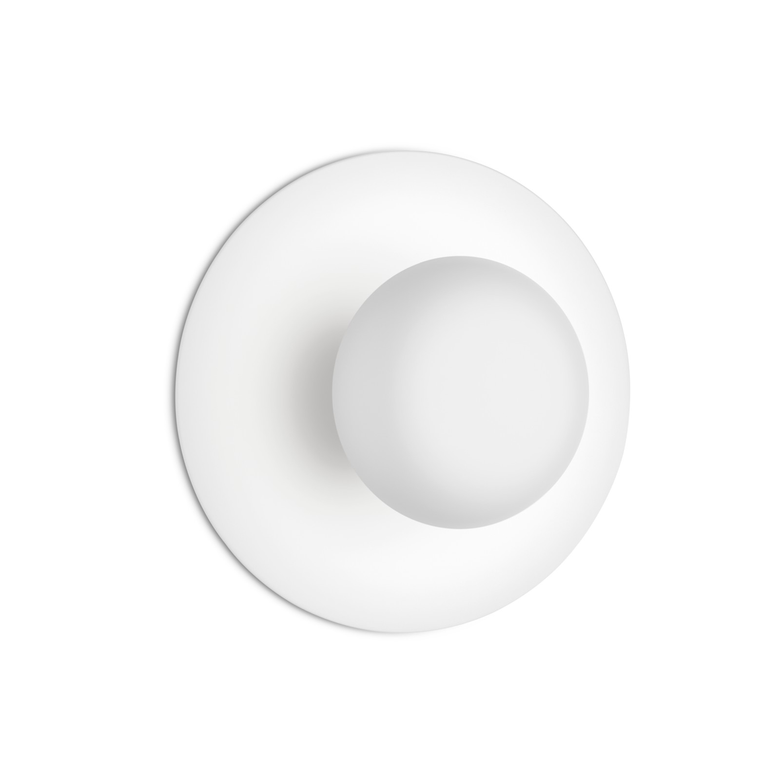 Funnel Ceiling/Wall Light Matt White Lacquer, 22cm