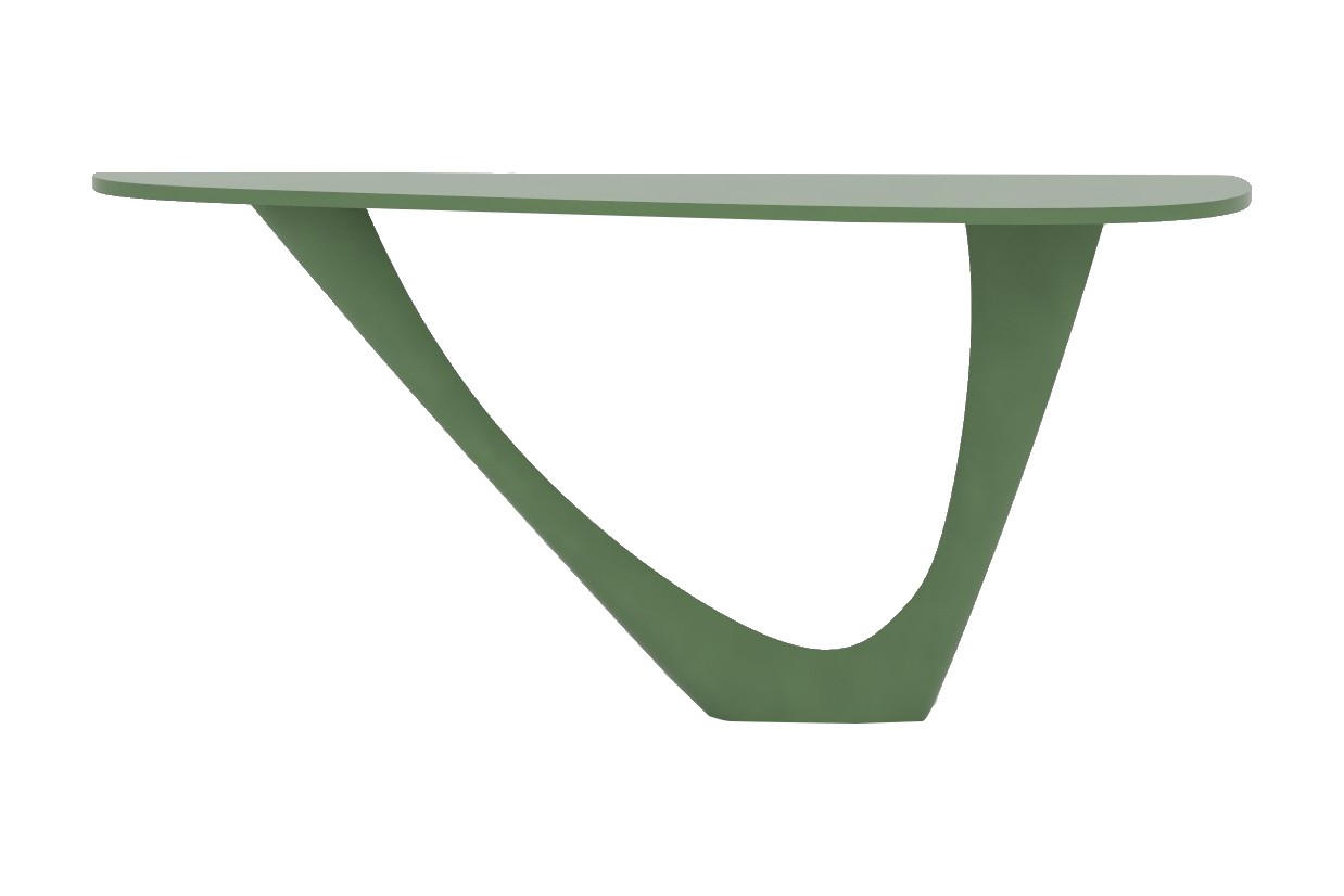 G-Console Mono Table with Powder Coated Top and Base RAL 6011