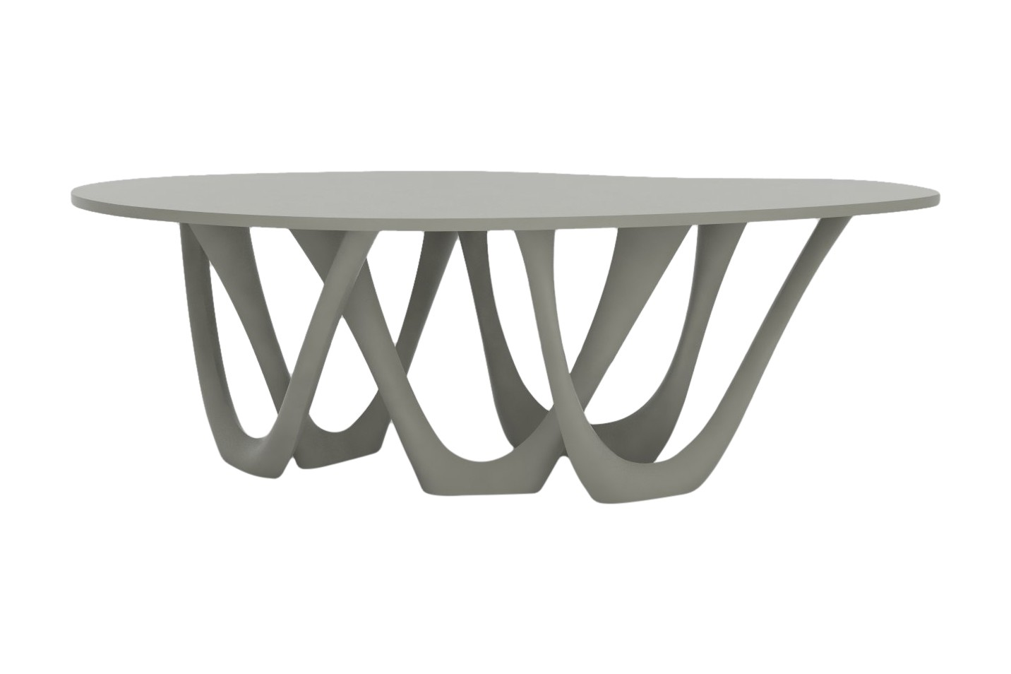 G-Table with Powder Coated Top and Base RAL 7030, Steel