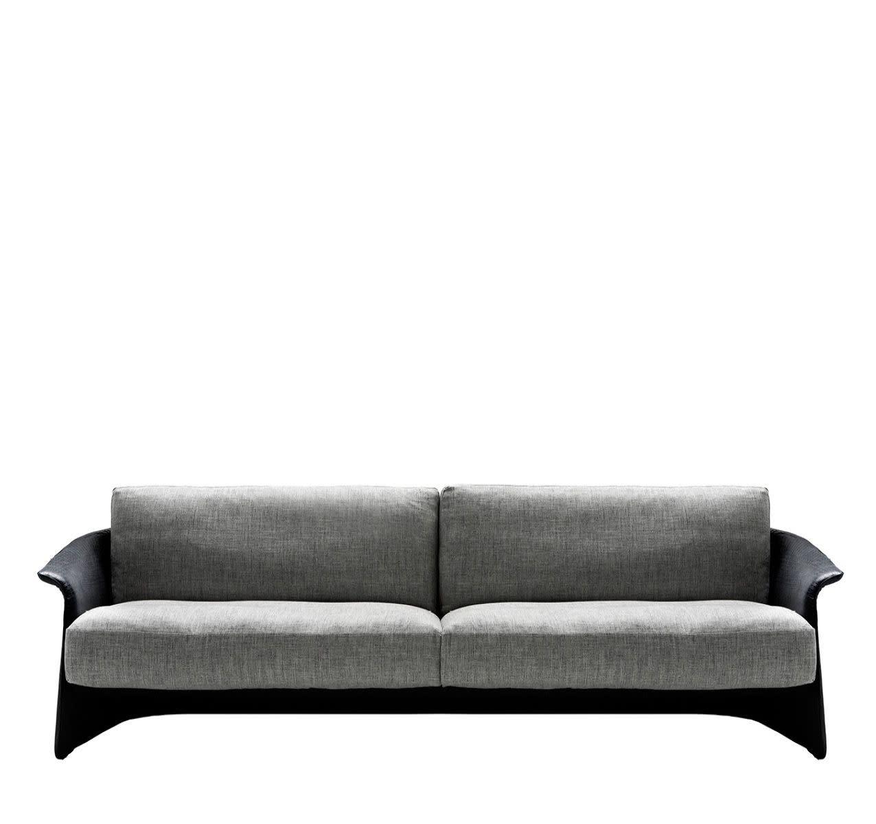 Garconne 2 - Three Seater Sofa Tigri - Arancione 5360, Cairo - Bianco 01