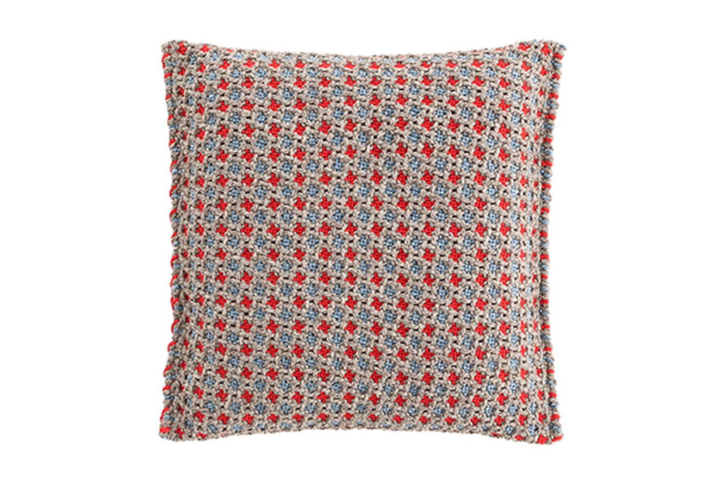 Garden Layers Small Cushion Gofre blue