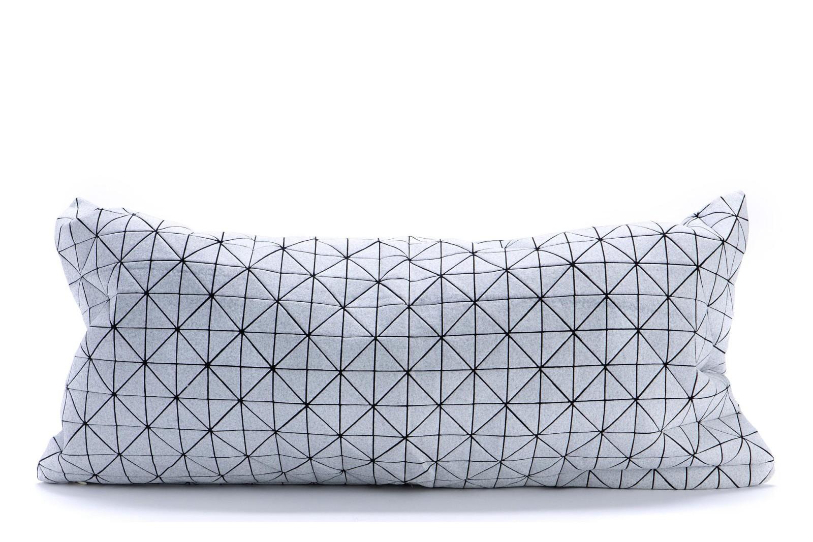 Geo Origami Rectangular Cushion Cover Light Grey