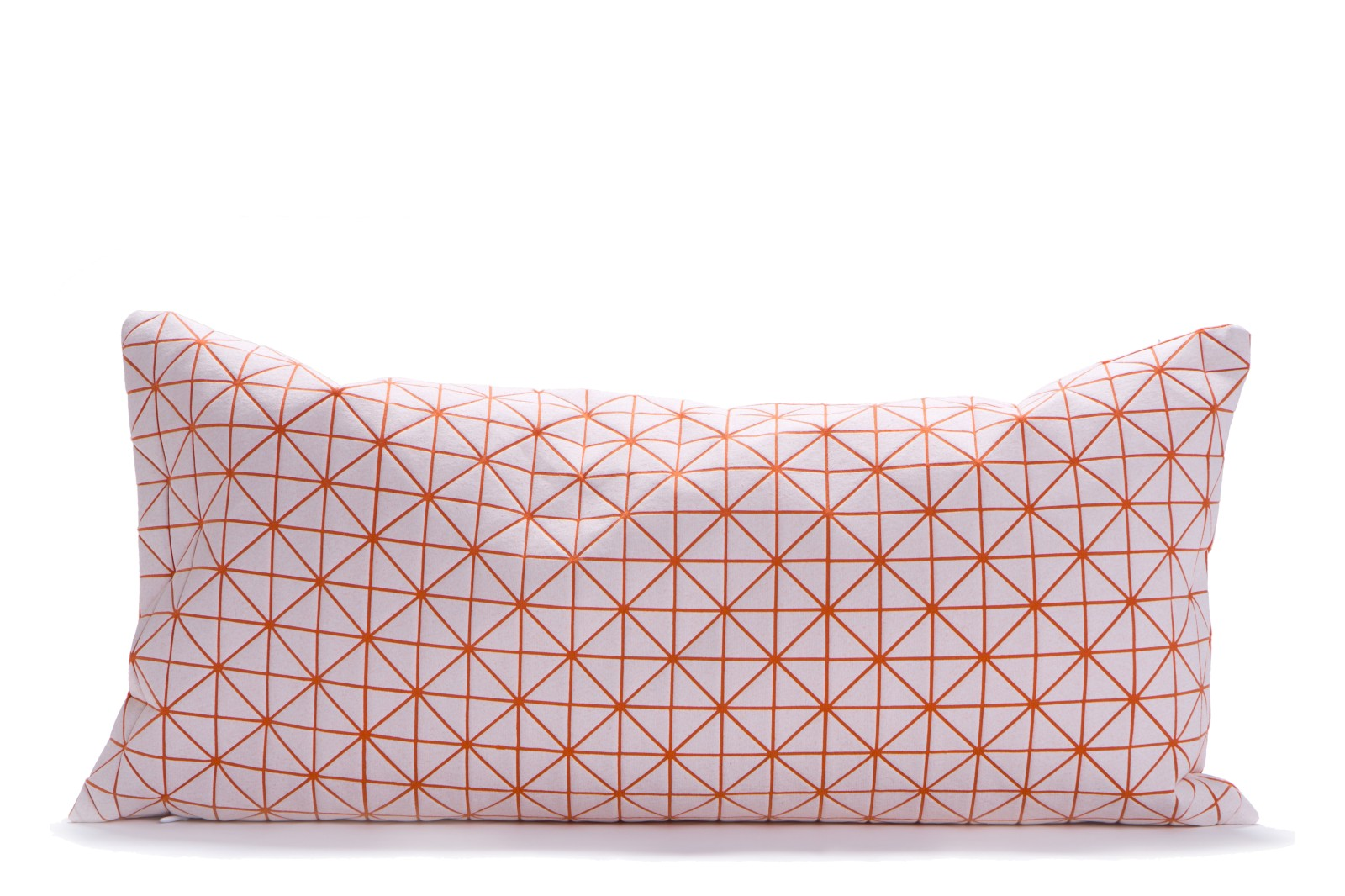 Geo Origami Rectangular Cushion Cover Orange