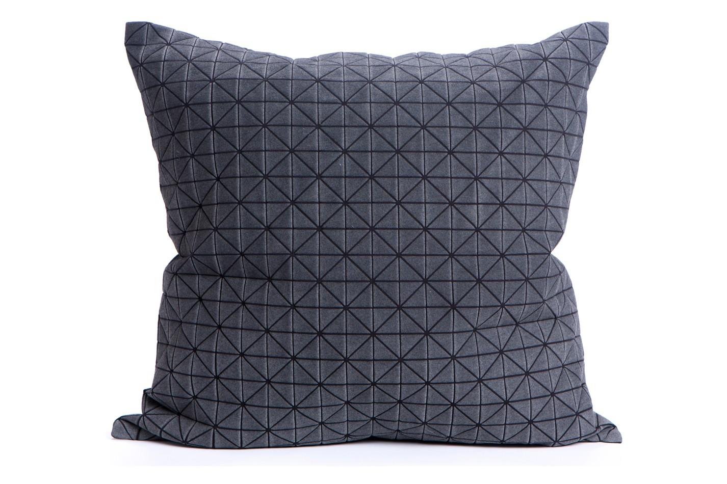 Geo Origami Square Cushion Cover Black