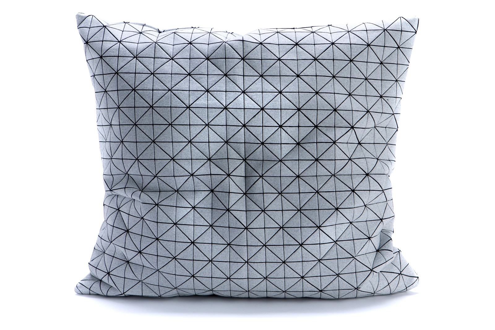 Geo Origami Square Cushion Cover Light Grey