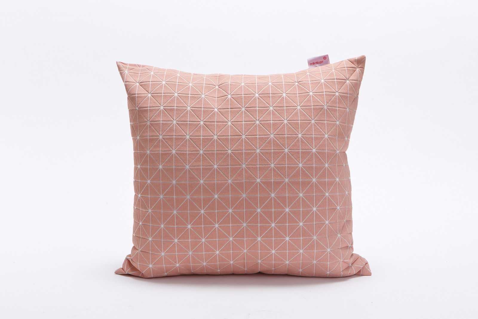 Geo Origami Square Cushion Cover Pink & White