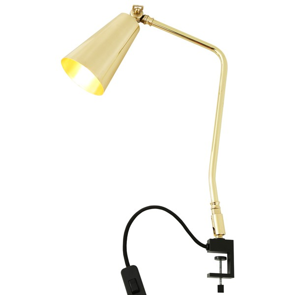 Georgetown Industrial Clamp Table Lamp Polished Brass