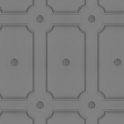 Georgian Dot Panelling Wallpaper SAMPLE - Medium Grey Georgian Dot Panelling Wallpaper