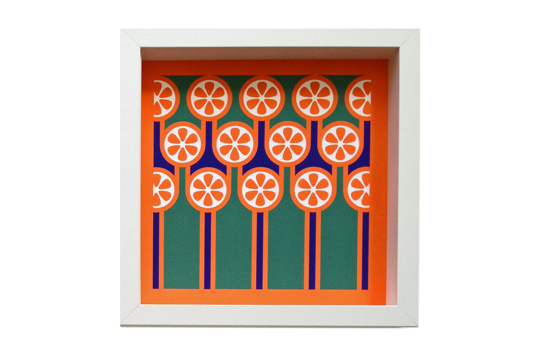 Giclee Art Print Oranges & Stripes