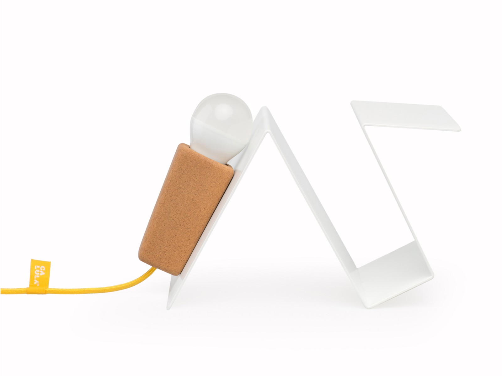 Glint #3 Desk Lamp White with Yellow Cable